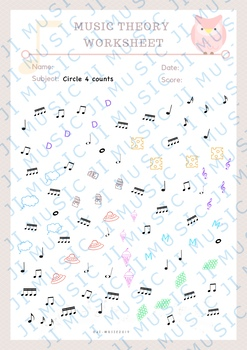 Rhythm Counting Worksheet- 8th and 16th note