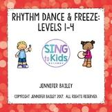 Rhythm Dance & Freeze: Levels 1-4