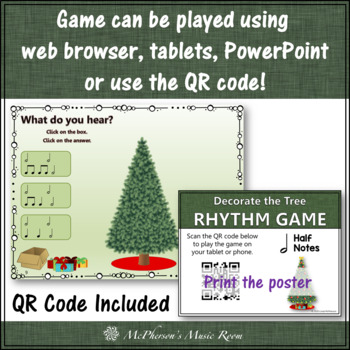 Rhythm: Decorate the Christmas Tree Interactive Music Game {Half Notes}