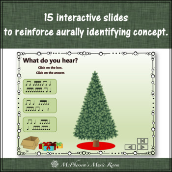 Rhythm: Decorate the Christmas Tree Interactive Music Game {Sixteenth Notes}
