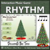 Christmas Music Game Sixteenth Notes: Interactive Rhythm Game Decorate the Tree