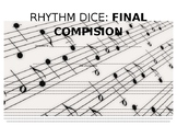 Rhythm Dice Compositions: Staff Paper for Final Composition