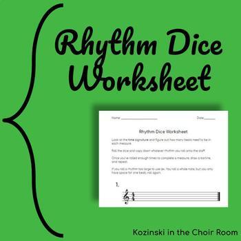 Rhythm Dice Worksheet