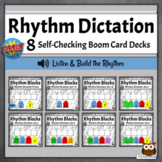Rhythm Dictation Music Games | Sequential Boom Cards BUNDLE