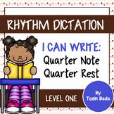Rhythm Dictation Worksheets {Quarter Note & Quarter Rest}