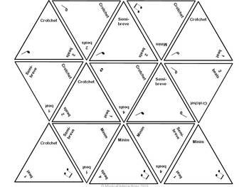 Rhythm Domino Trio of Games (British rhythms) - Music Centers and Sub Activities