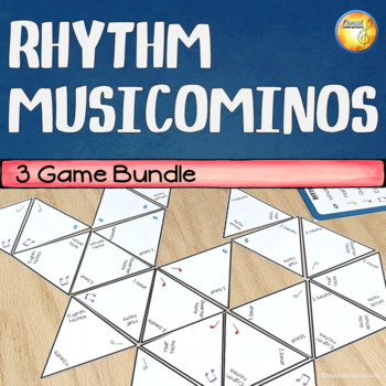 Rhythm Domino Trio of Games - Music Centers and Sub Activity