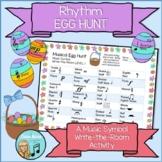 Rhythm EGG HUNT - Musical Write-The-Room Spring Easter Activity