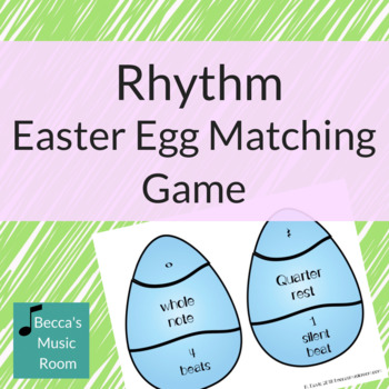 Rhythm Easter Egg Matching Game for Spring Music Centers