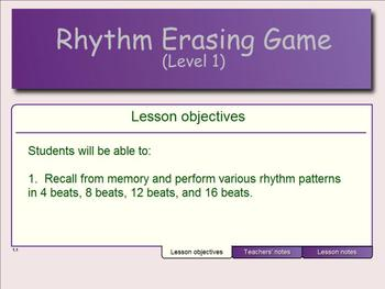 Rhythm Erase Game (Level 1)