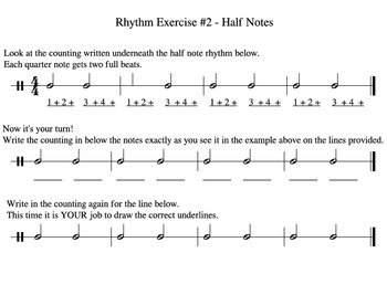 Rhythm Exercises #1-5