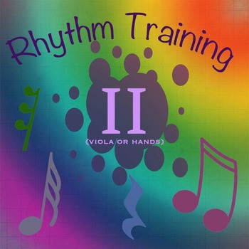 Rhythm Exercises II for Viola or clapping