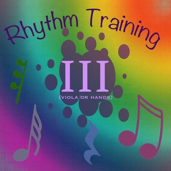 Rhythm Exercises III for Viola or clapping