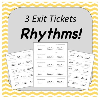 Rhythm Exit Tickets FREEBIE