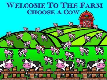 Rhythm Farm Cow Quarter/Eighth Note Edition