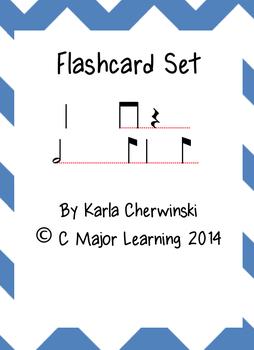 Rhythm Flaschards syn-co-pa (eighth quarter eighth)