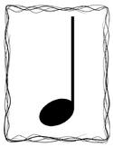 Rhythm Flash Cards - Letter Size, with Description on Back