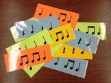 Rhythm Flash Cards (Level 1) - Ta, Ti-Ti, & Rest