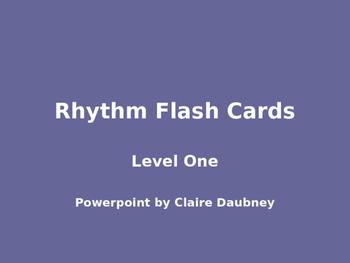 Rhythm Flash Cards Level One