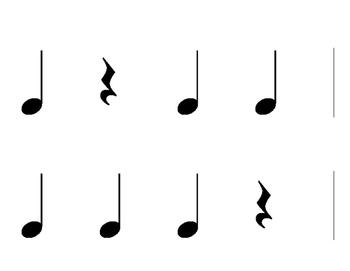 Rhythm Flash Cards for Leroy Anderson's Sleighride