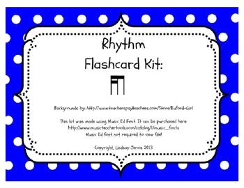 Rhythm Flashcard Kit: Tika- ti (Two Sixteenth and one Eighth Notes)