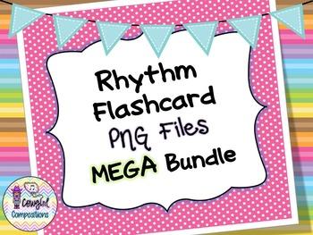 Rhythm Flashcard PNG Files MEGA Bundle