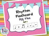 Rhythm Flashcard PNG Files Set 1