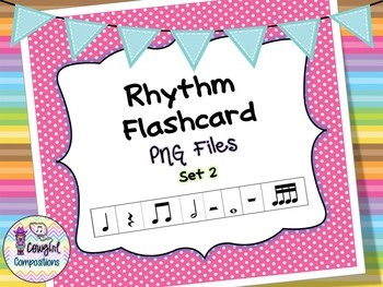 Rhythm Flashcard PNG Files Set 2