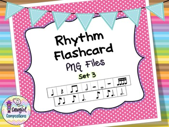 Rhythm Flashcard PNG Files Set 3