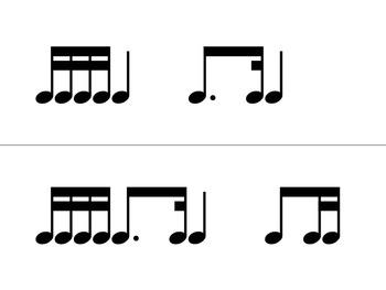 Rhythm Flashcard PNG Files Set 4