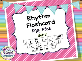 Rhythm Flashcard PNG Files Set 5