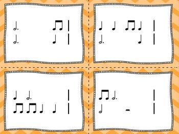 Rhythm Flashcards - Dotted Half Note