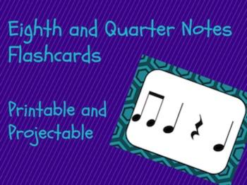 Rhythm Flashcards- Eighth and Quarter Notes