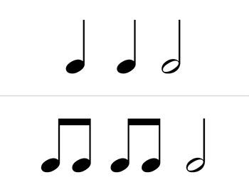 Rhythm Flashcards - Half notes and ties
