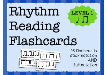 Rhythm Flashcards (Quarter Note/Eighth Notes)