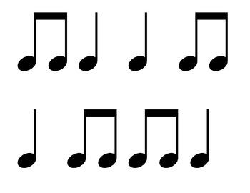 Rhythm Flashcards - Set 1 {Ta, Titi, Ta-ah}