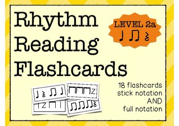 Rhythm Flashcards (Quarter Note/Eighth Notes/Rest)