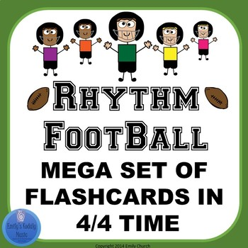 Rhythm Flashcards Mega Set- Football Theme