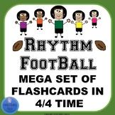 Rhythm Flashcards Mega Set- Football Theme