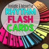 Projectable Rhythm Flashcards (Printable AND Interactive Rhythm Flash Cards)