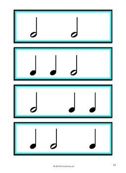 Projectable Rhythm Flashcards (Printable And Interactive Rhythm Cards)
