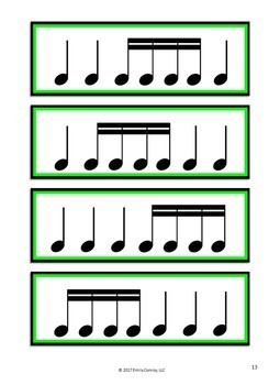 graphic relating to Free Printable Music Flashcards called Projectable Rhythm Flashcards (Printable And Interactive Rhythm Playing cards)