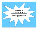 Rhythm Flashcards: Quarter Notes and Rests