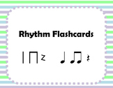 Rhythm Flashcards - Quarter notes, paired eighths, and quarter rest