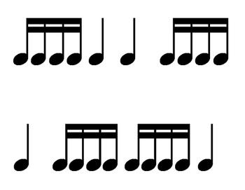 Rhythm Flashcards - Set 2 {Takadimi, TikaTika, Tiritiri}