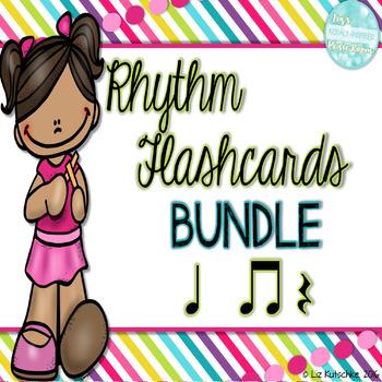 Rhythm Flashcards: Quarter Note, Eighth Notes,and Quarter Rest
