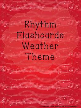 Rhythm Flashcards Weather Theme