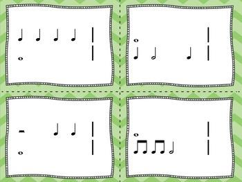 Rhythm Flashcards - Whole Note