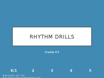 Rhythm Flashcards for Drilling (A Growing Collection)