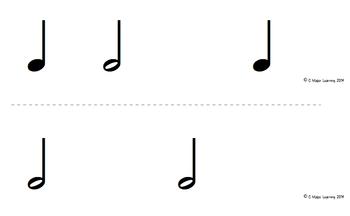 Rhythm Flashcards half note